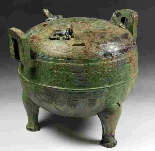 Chinese Warring States Period Bronze Vessel