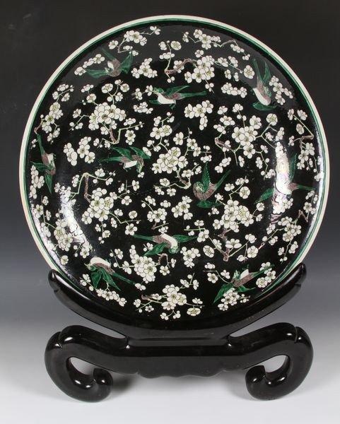 6001: Chinese 18th C. Sancai Plate
