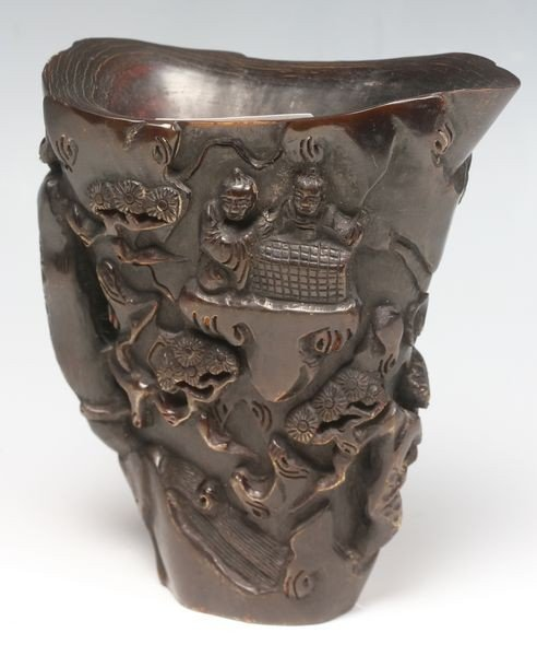 6003: Chinese Horn Libation Cup