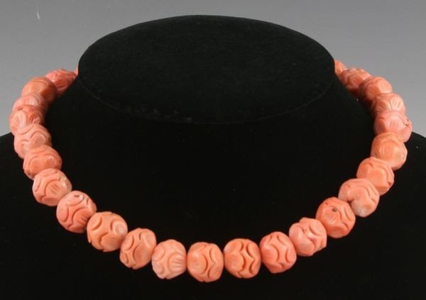6013: Chinese 20th C. Coral Necklace