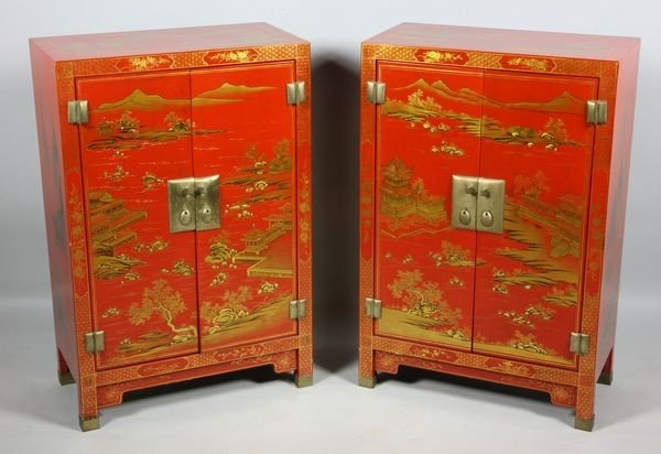 6022: Chinese 20th C. Pair of Cabinets