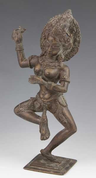 6023: Bronze South Asian Devotional Figure