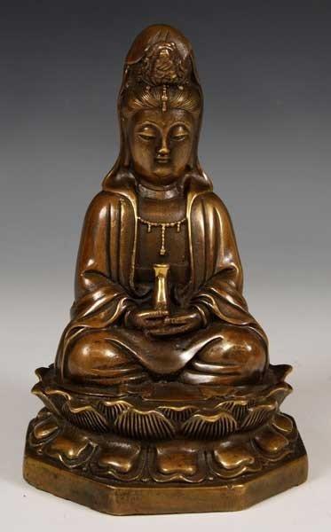 6024: Chinese Bronze Guan Yin