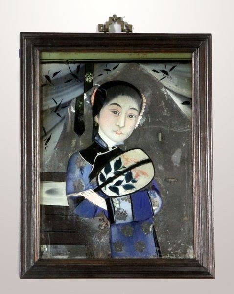 7005: 19th C. Chinese Reverse Painting on Glass