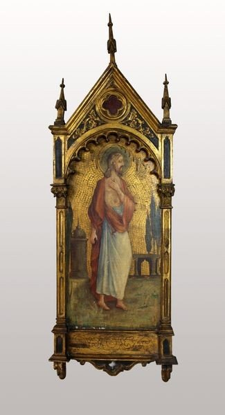 7006: 2 19th C. Florentine Icons of Mary and Christ