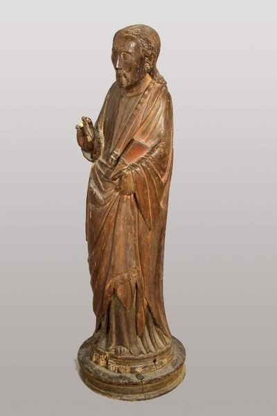 7008: 17th/18th C. Italian Carved Wood Saint
