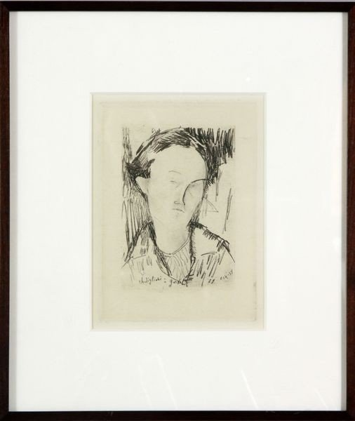 7010: Modigliani, Portrait, Etching