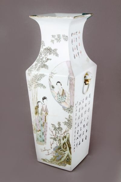 7013: Early 20th C. Chinese Famille Rose Vase