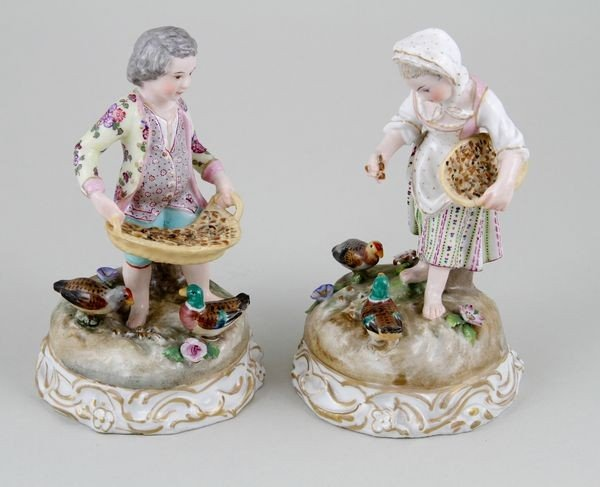 7024: 19th C. Meissen Type Porcelain Figures