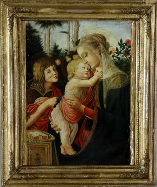 7306: After Botticelli, Madonna and Child, O/C