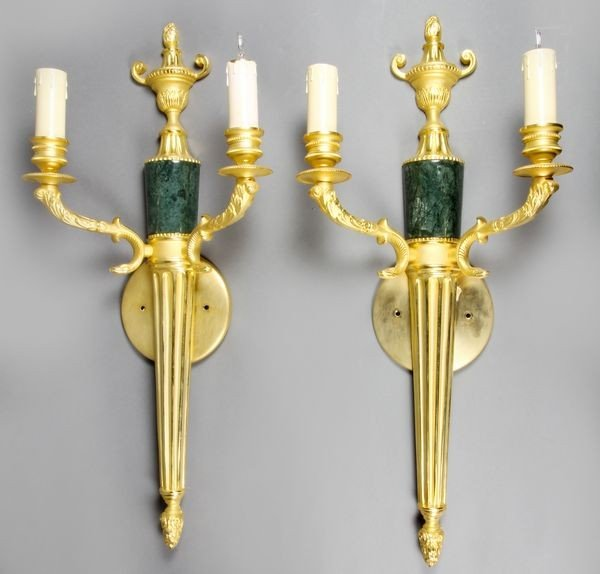 8008: Pair of 20th C. French Wall Sconces