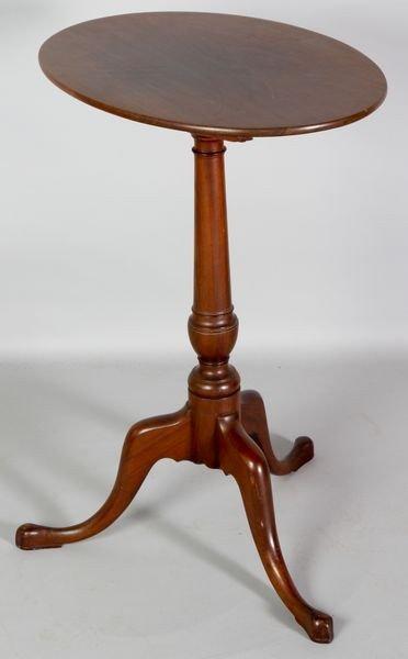 8014: 18th C. Queen Anne Tilt Top Candlestand