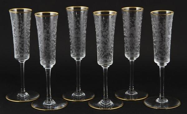 8015: Set of 6 Baccarat Champagne Flutes