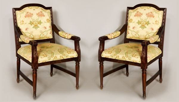 8044: 2 Regency Style Arm Chairs