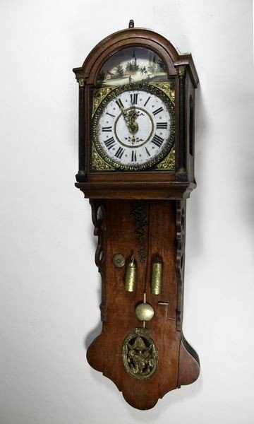1002: 18th C. Dutch Wall Clock