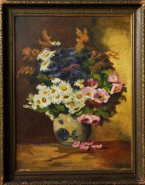 1003: Streckenbach, Still Life of Flowers, O/C