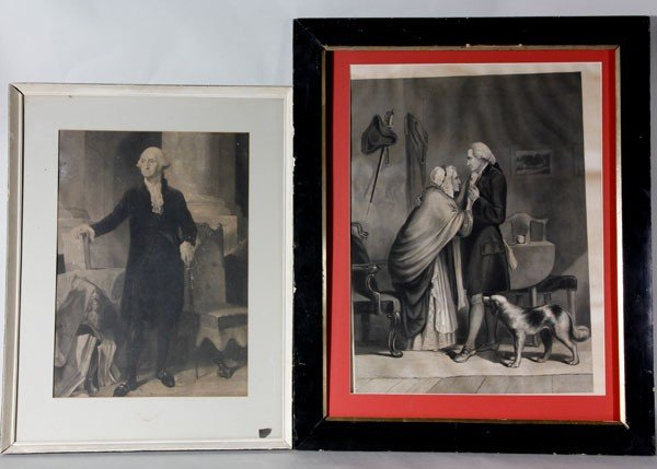 1015: Lot of 2 Prints of George Washington