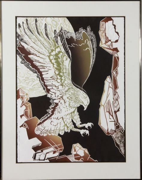 "1025: Eber, ""Night Descent"", Lithograph"