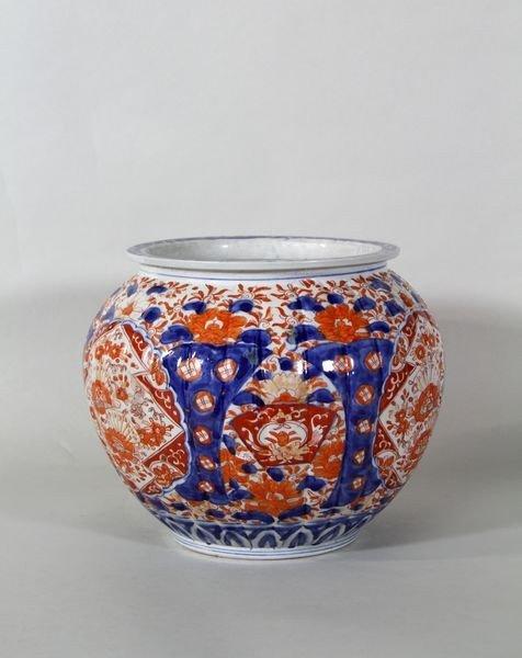 1055: 19th C. Japanese Imari Jar