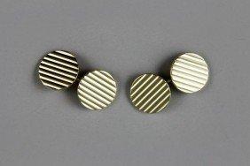 14K Gold Cartier Cufflinks