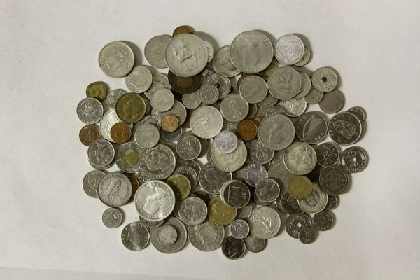 1153: Lot of 20th C. Foreign Coins