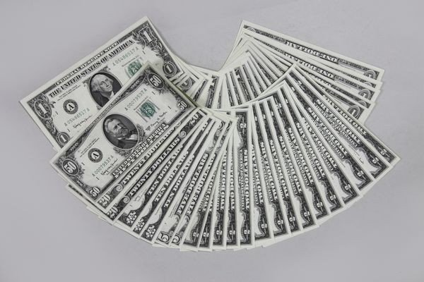 1155: Lot of US Paper Money
