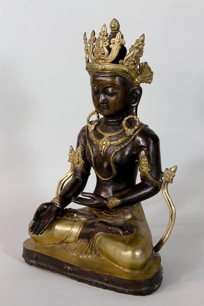 1184: Chinese Bronze Buddha