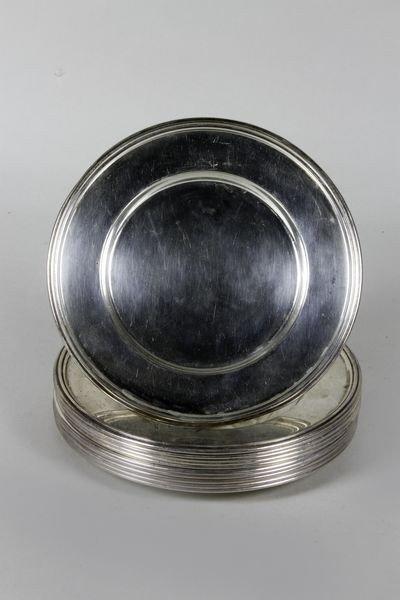 1256: Sterling Silver Dessert Plates