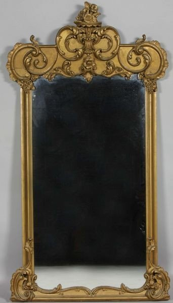 1016: 19th C. Gilt Mirror