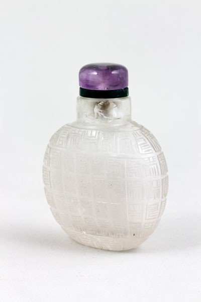 1051: 19th C. Chinese Crystal Snuff Bottle