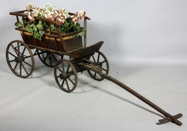 1066: 19th C. Flower Cart