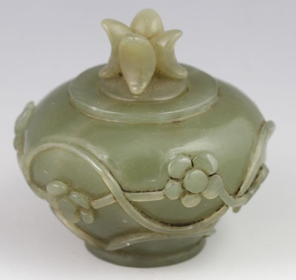 1070: Chinese 19th C. Carved Perfume Jar