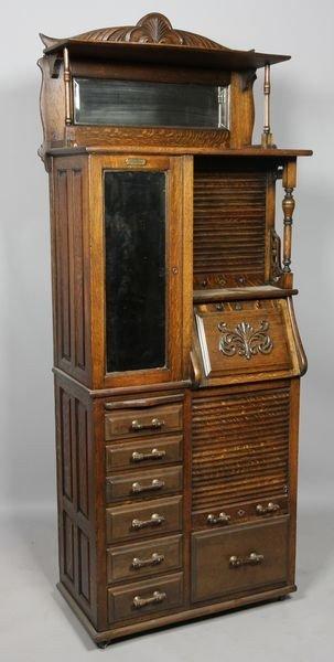 1096: Oak Dental Cabinet