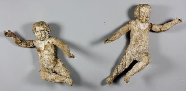1098A: Pair of 17th C. Italian Angels
