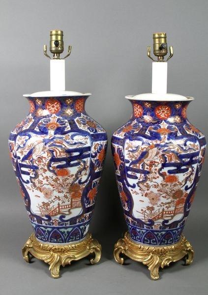 1104: Pair of Imari Lamps