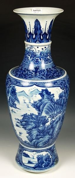1108: 18th/19th C. Chinese Blue and White Vase