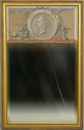 20th C. Trumeau Mirror