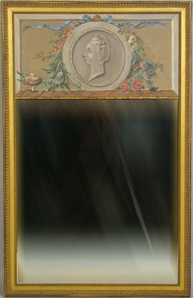 1157: 20th C. Trumeau Mirror