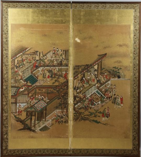 1161: 19th C. Japanese Watercolor