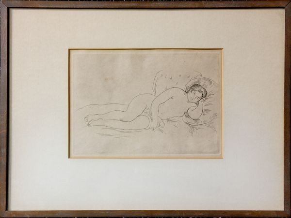 "2003: Attributed to Renoir, ""Nude Resting"", Etching"