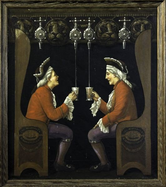 """2005: C. 1920, """"The Two Little Smiling Men"""", O/C"""
