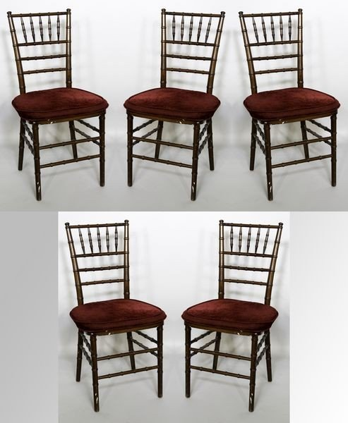 2008: 5 Victorian Bamboo Style Chairs
