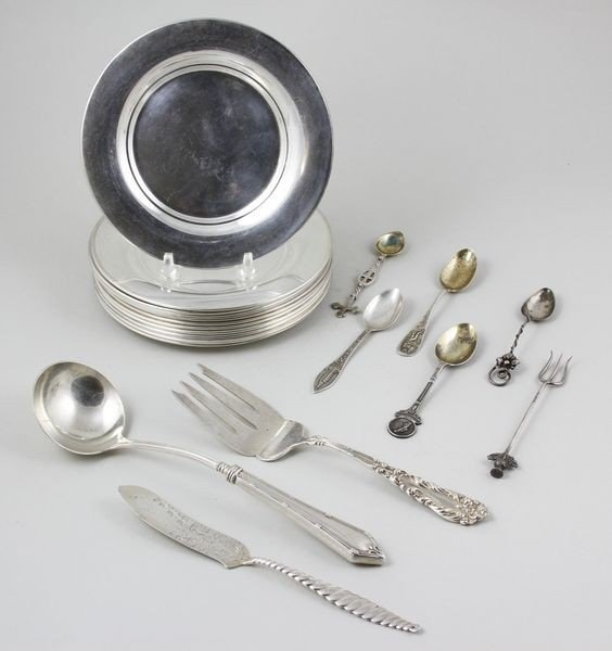 2018: Set of Sterling Plates and Flatware