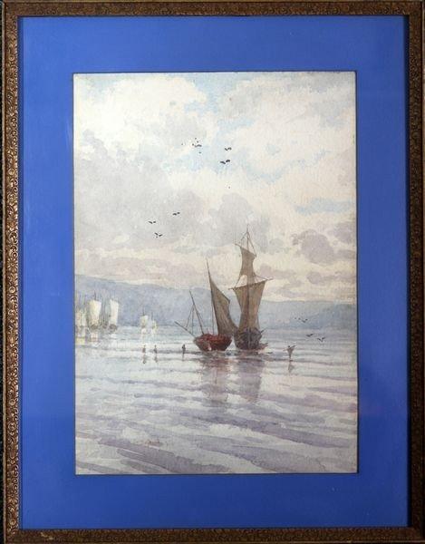 2024: Dutch Harbor Scene, W/C