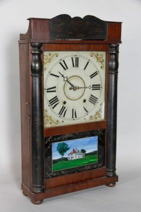 Eli Terry Pillar And Scroll Mantle Clock