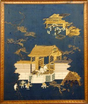 20th C. Japanese Embroidered Picture