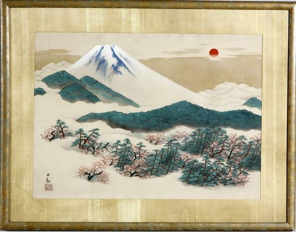 2035: 20th C. Japanese Painting of Mt. Fuji