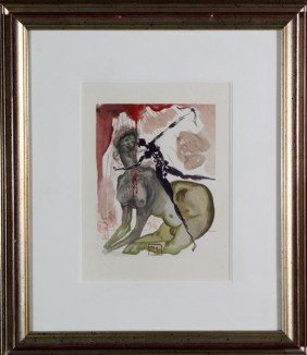 Dali,  'The Minotaur' Cantos Woodcut #12