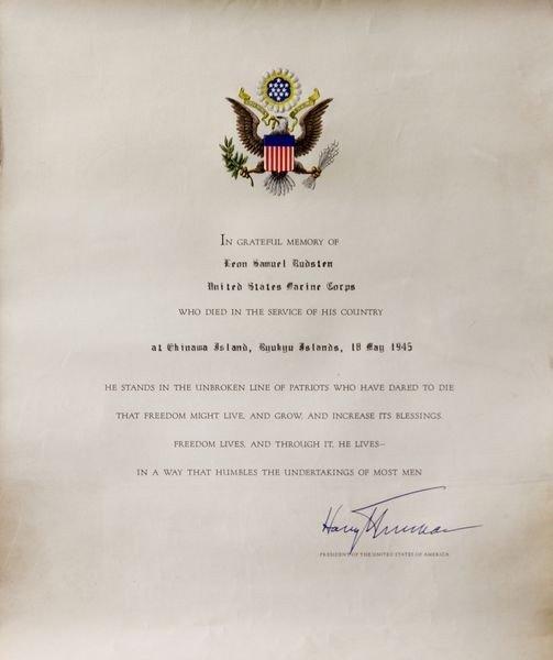 2038: Truman Signed Document