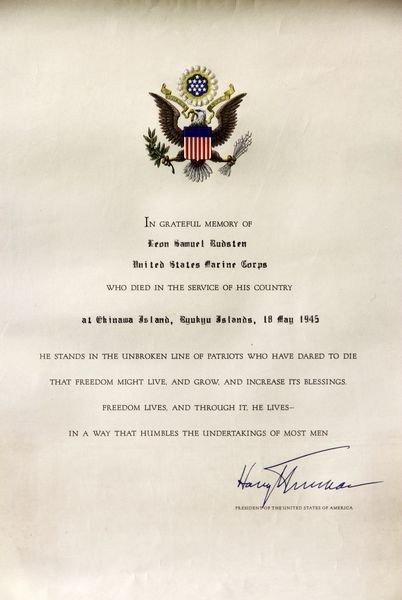 2038: Truman Signed Document - 2